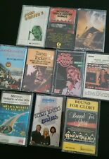 Cassette Tapes 12 Mixed Music artists Inc Carry Storage Case