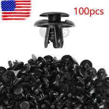 100Pcs 7mm Hole Push Clips Fastener Rivets Fender Liner Retainer For Toyota