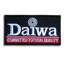 Black Daiwa Fishing Patch Logo Emblem Badge Iron on Rod Reels Tackle Lures Trout