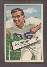 1952 Bowman Football #23 Gino Marchetti Dallas Texans