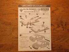 Alfa Romeo 156 Body Instructions- Kyosho Inferno Landmax Super Eight GP20 series