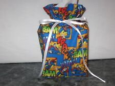 SUPERMAN on blue cotton Fabric Handmade Square Tissue Box Cover