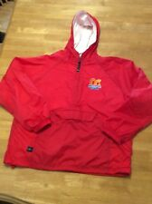 Lifeguard OC WATERPARK Charles River Apparel RED Nylon JACKET Flannel lined M
