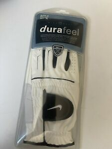 Nike Golf, MEN'S, DuraFeel, Left Hand, White/Black/White, Size: L