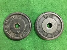 "VINTAGE YORK BARBELL 5 LBS PAIR STANDARD 1"" PLATES PLATE WEIGHT 5 LBS EACH"