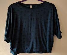 Lululemon Go Om SS Tee SZ 2 Mini Ghost Weave Alberta Lake Blue Burnout Shirt Top