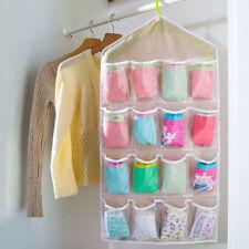 5x Hänge Aufbewahrung Kleideraufbewahrung Kleider Schrank Organizer 16 Fächer Be