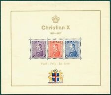 ICELAND B5 Mint Never Hinged Christian X Souvenir Sheet from 1937
