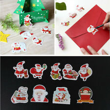 48pcs Christmas Cake Decor Sticker Scrapbook Diy Diary Photo Album Label Decor ^