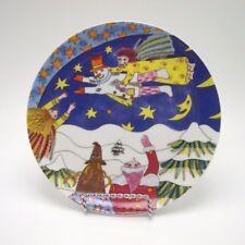 Kiki Christmas Plate The Angel Teaches the Snowman How to Fly 1997 Japan