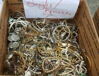 JEWELRY LOT ALL GOOD WEAR RE-SELL BROOCH ART ESTATE MODERN VINTAGE 50 Pc NO Junk