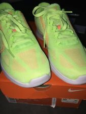 Women's NIKE REVOLUTION 3 Running Training Ghost Green W Sunset Glow Size 5 New