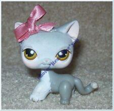 LITTLEST PET SHOP #138 CAT KITTEN SHORT HAIR : GREY : HAZEL DOT EYES