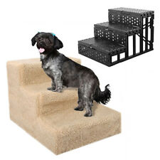 3 STEPS PUPPY LADDER DOGGY PET SOFT STAIRS RAMP WASHABLE COVER FOLDABLE _GG