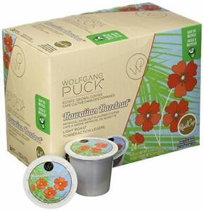 Wolfgang Puck Hawaiian Hazelnut Coffee 24 to 192 K cups Pick Any Size FREE SHIP