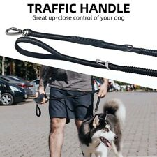 Dog Leash Tactical Training Heavy Duty Nylon Bungee Dog Lead Dual-Handle 4-6ft