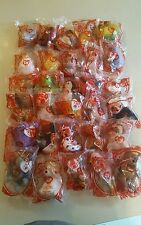"""2009 """"30 Years of Happiness"""" Ty Beanie Baby Happy Meal Toys UNOPENED Full Set!!"""