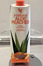 Forever Living Aloe Bits N' Peaches  33.8 fl.oz 1 Liter FREE SHIPPING!  Exp 9/21