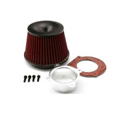 1x 75mm Universal Auto Car Racing Power Intake Air Filter Dual Funnel Adapter