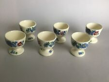 "Masons Ironstone Strathmore Pedestal Egg Cups Set Of 6- 2 1/4"" H"