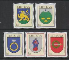 Lithuania - 2003, Town Arms set - M/M - SG 801/5