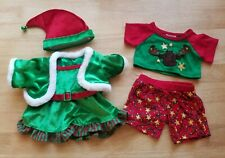 New ListingBuild a Bear Clothes Elf Girl and Christmas Outfit Pjs 5pcs