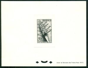 MONACO 1948 Olympic Games London Proof Rowing in black on thick paper