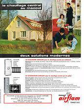 PUBLICITE ADVERTISING  1964  AIRFLAM   chauffage à mazout