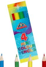 10 PACKS OF 4 MINI COLOURING PENCILS BIRTHDAY PARTY LOOT BAG FILLERS