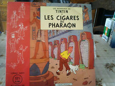 "tintin""les cigares du pharaon""lp12""or.belgique et france 50's.casterman.tin.1."