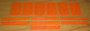 LIONEL LARGE G SCALE TRAIN PARTS: REEFER FREIGHT CAR PLASTIC DOORS GUIDES LOT