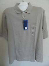 New Mens Short Sleeve Polo - Beige - Size: XXL