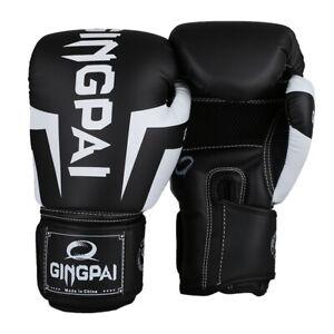 Kick Boxing Gloves Gingpai Training Men Women Bag Punching Mitts Half Kickboxing