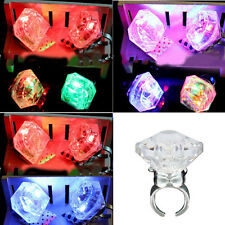 1Pcs New Multicolor Hen Party Night Accessories Large Flashing Diamond Rings Hot