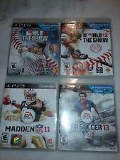 PS3 Games MLB 11, MLB12, MADDEN 11, FIFA SOCCER 13