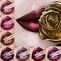Long Lasting Matte Metallic Liquid Lipstick Lip Gloss Makeup Beauty Cosmetics