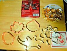 Lot of Cookie Cutters Ann Clark Wilton Snowflakes Wilton Fall Lizard + New
