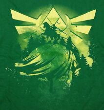"""Wild Triforce"" Link Zelda Epona Men's Large Shirt Teefury"