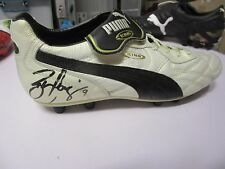 WEST COAST : BEN COUSINS SIGNED WHITE PUMA FOOTBALL BOOT - FULL AUTOGRAPH