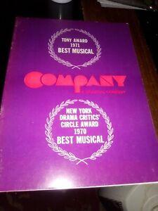 COMPANY, RARE 1973 Tour Broadway Musical, Case, Crawford, Julie Wilson, Sondheim