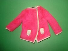 Vtg Barbie 60s Mod Doll Clothes SNUG FUZZ Jacket 1969 1813