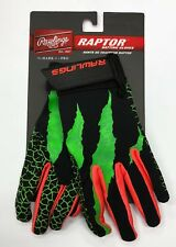 New pair Rawlings Raptor baseball batting gloves youth small RRBGY glove set