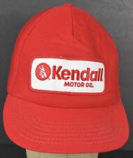 Red Kendall Motor Oil Co Logo Patch Baseball Hat Cap Adjustable Snapback