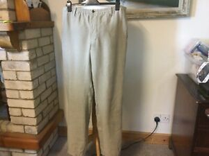 OSKA Size 5 Heavy Linen Trousers Button Fly Excellent Mens