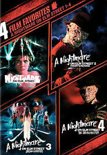 4 Film Favorites - A Nightmare on Elm Street 1-4 (DVD, 2008) OOP Title!