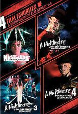 4 Film Favorites - A Nightmare on Elm Street 1-4 (DVD, 2008)BRAND NEW