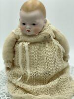 AM Vintage Antique Baby Doll, Reproduction Body Bisque Porcelain, 40cm Long