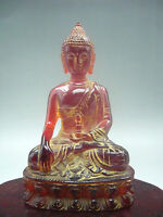 12 cm * / Chinese manual sculpture rare amber, Buddha had the figure of Buddha