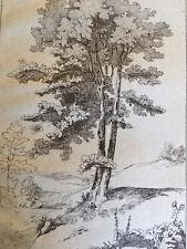 Très beau Grand Dessin d après Charlet encre original 1850 signé