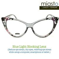 "MIASTO ""BIG CAT EYE"" COMPUTER READER READING GLASSES +2.50 (BLUE LIGHT BLOCKING)"